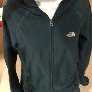 The Northface fleece hoodie zip front jacket